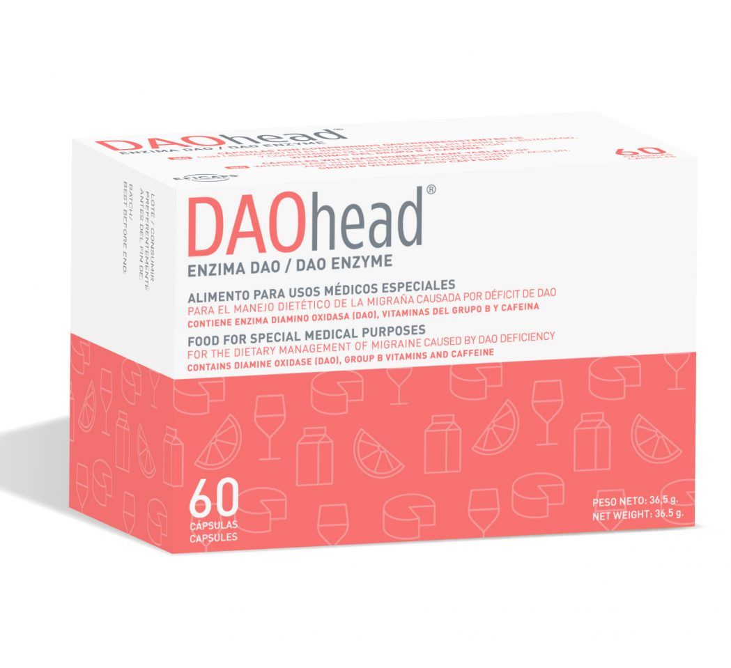 DAO HEAD, nutraceutic activ in gestionarea dietetica a migrenei